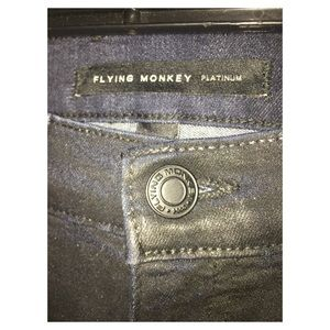Black waxed jeans